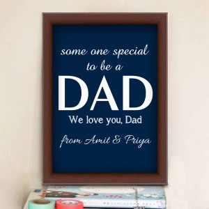 Personalized frame for dad