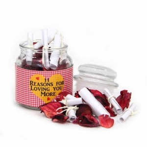 ROMANTIC LOVE MESSAGES JAR FOR VALENTINE'S DAY