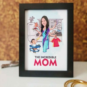 PERSONALIZED CARICATURE FRAME FOR MOTHER'S DAY