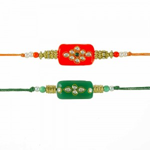 Kundan rakhi for brother