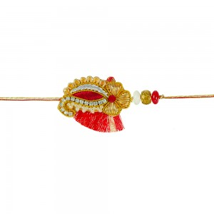 Zardozi rakhi for brother