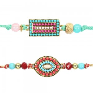 Designer beaded rakhi for brother