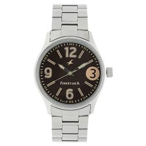 Fastrack 3001SM07 Brown Dial Metal Watch