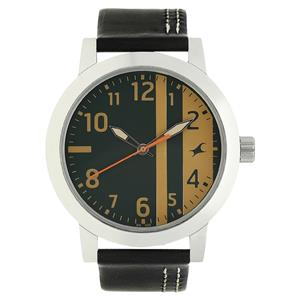 Fastrack 3162SL01 Multicoloured Dial Leather Strap Watch