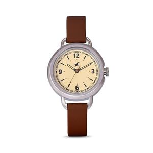 Fastrack 6123SL02 Beige Dial Leather Strap Watch