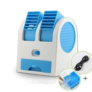 Air Coolers-AutoSun Mini Fan & Portable Dual Bladeless Small Air Conditioner