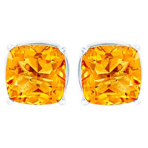 FacetzInspire Lab Golden Topaz 92.5 Sterling Silver Earring