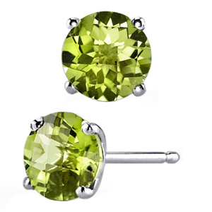 FacetzInspire Lab Peridot 92.5 Sterling Silver Earring