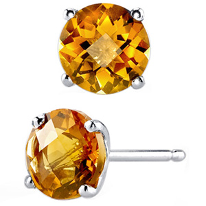 FacetzInspire Lab Citrine 92.5 Sterling Silver Earring