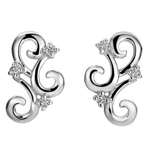 FacetzInspire Real Diamond 92.5 Sterling Silver Earring
