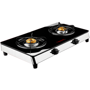 Butterfly Reflection Glass Top - 2 burner
