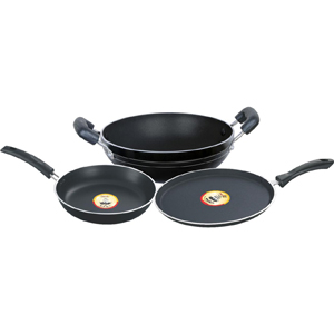 Non-Stick Cookware-Pigeon 3 Pcs Gift Set - CORAL