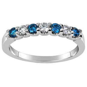 Diamond-FacetzInspire Real Diamond Lab Blue Topaz 92.5 Sterling Silver Ring