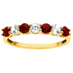 Diamond-FacetzInspire Real Diamond Lab Ruby 92.5 Sterling Silver Ring
