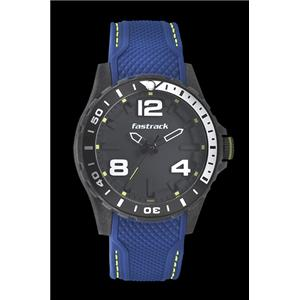 Fastrack Unisex Silicon Analog Black Sport Watch - 38036PP02J