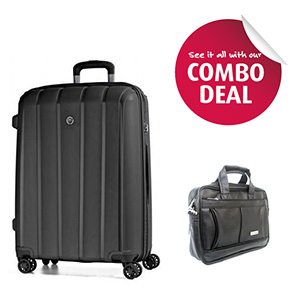 Trolleys & Strollers-Encore Bolt 28 Inches Suitcase and Encore Ofs 13 Inches Office Bag Combo Offer