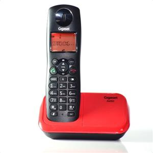 Telephone Handsets-Gigaset A450 Black & Red Cordless Landline Phone