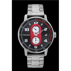 Fastrack Guys Stainless Steel Analog Grey Watch - 3159SM01