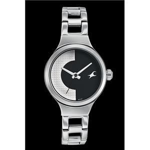 Fastrack Girls Metal Analog Black and White Watch - 6134SM01C