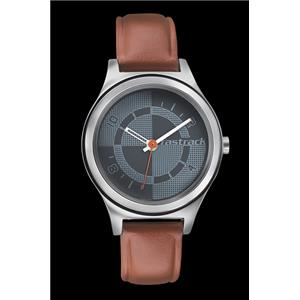 Fastrack Girls Leather Analog Grey Watch - 6152SL02