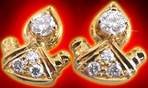 Diamond Earrings-Modern Motif