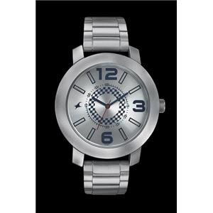 Fastrack Guys Stainless Steel Analog Silver White Watch - 3120SM03