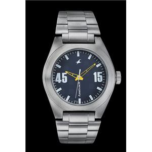 Fastrack Guys Stainless Steel Analog Blue Watch - 3110SM03
