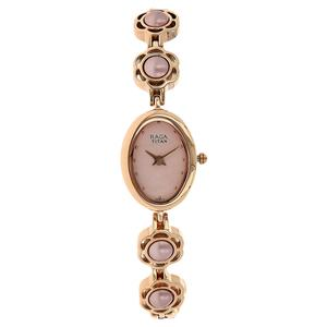 Titan Pink Dial Stainless Steel Strap Women's Watch 2511WM07