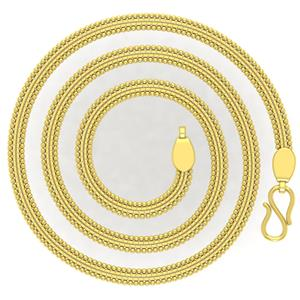 Gold Chains-Avsar 18k Gold 18 Inch Shrin Chain