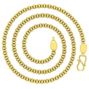 Gold Chains-Avsar 18k Gold 24 Inch Bambato Chain