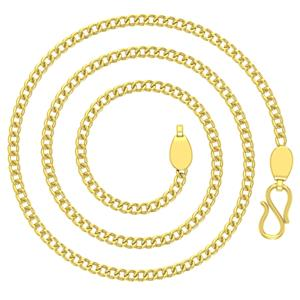 Gold Chains-Avsar 18k Gold 24 Inch Curb Chain