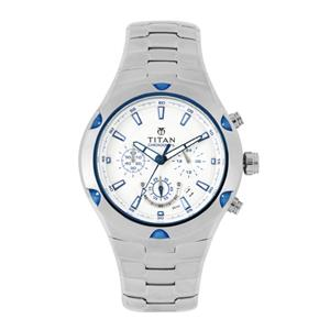 Titan Silver Dial Chronograph Men's Watch - NF9468KM01MJ