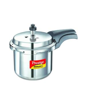 Cookers-Prestige Deluxe(S.S) Cookers - 6.5 ltr