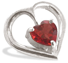 Heart Collection-Garnet Pendant