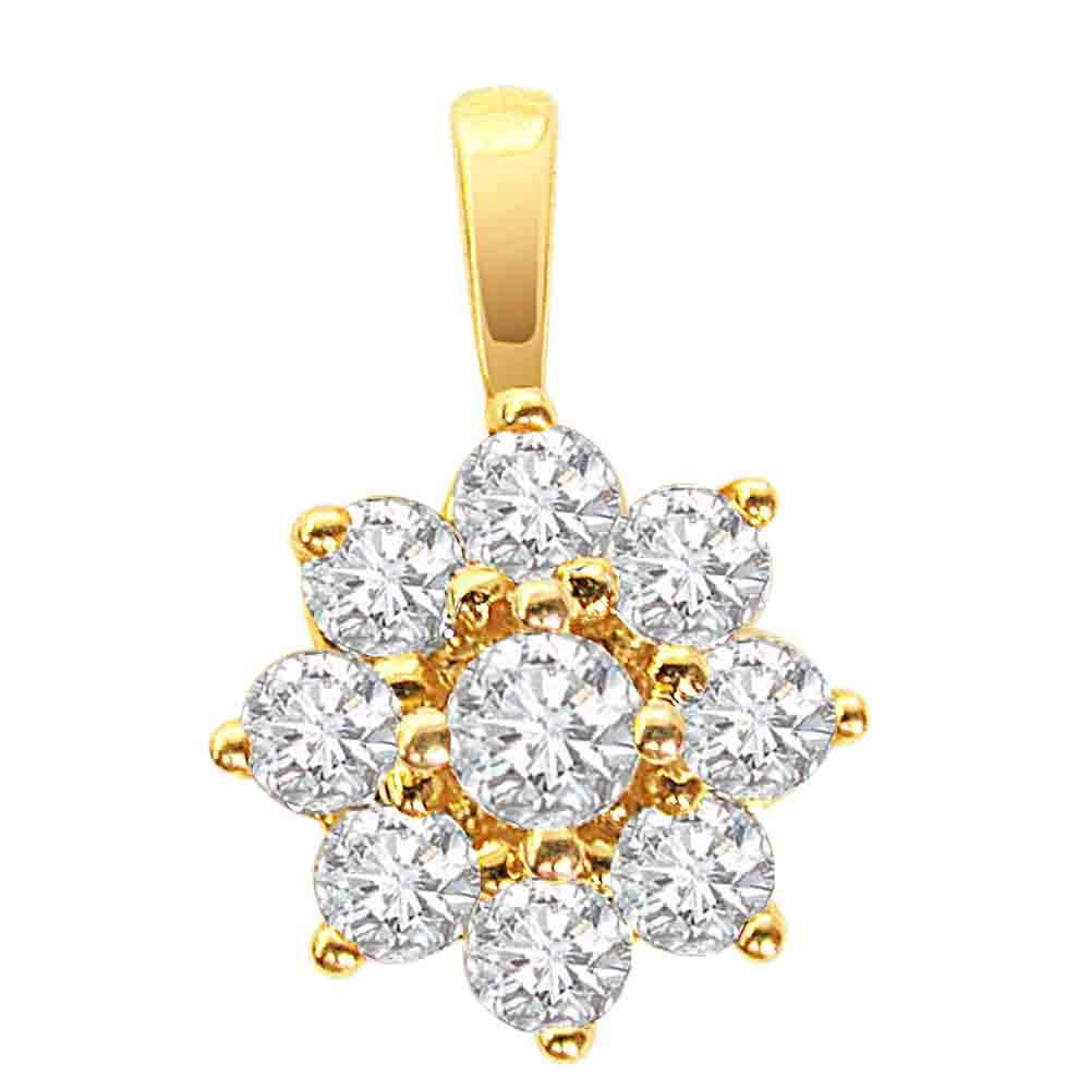 Diamond Pendants-Flower Pendant