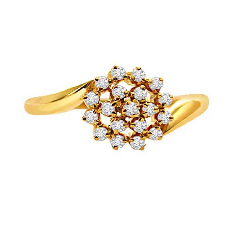 Diamond-Flower Ring