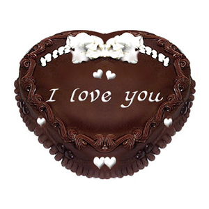 Heart Shaped Chocolate Truffle 1kg Cake