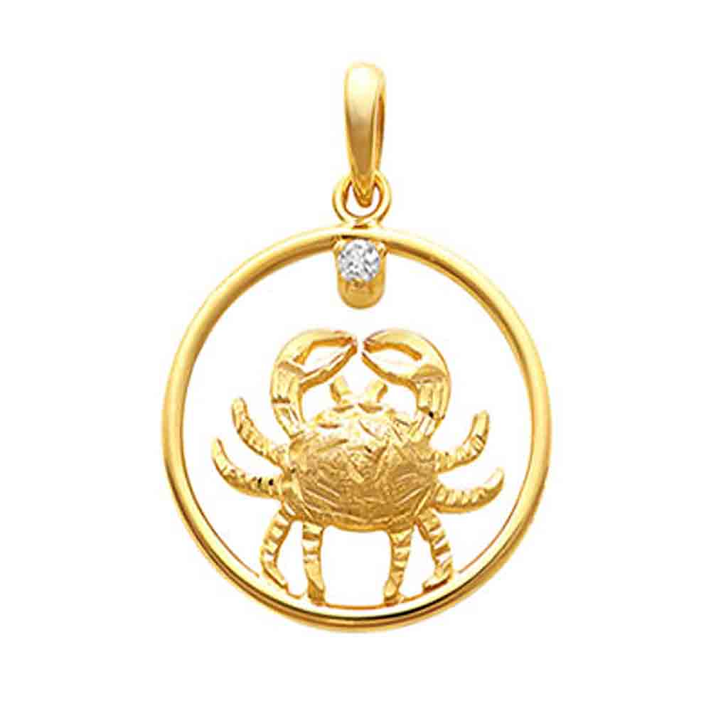 Cancer Gold Pendant