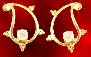 Diamond Earrings-Sunaine Earrings
