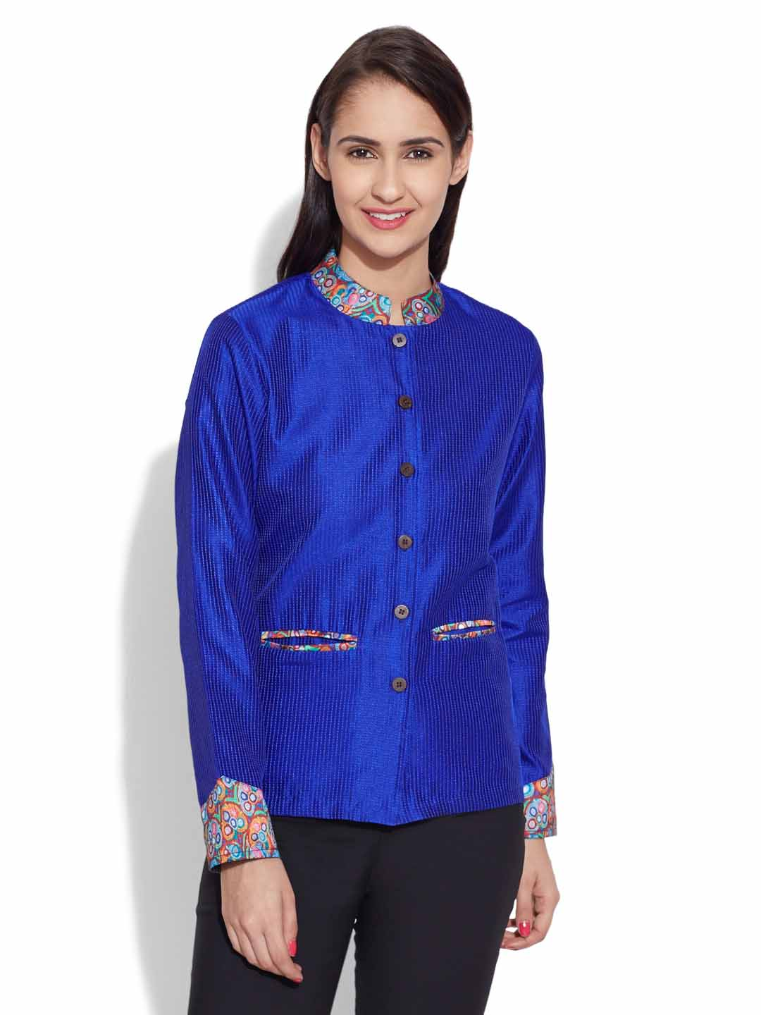 Faux Silk Short Jacket