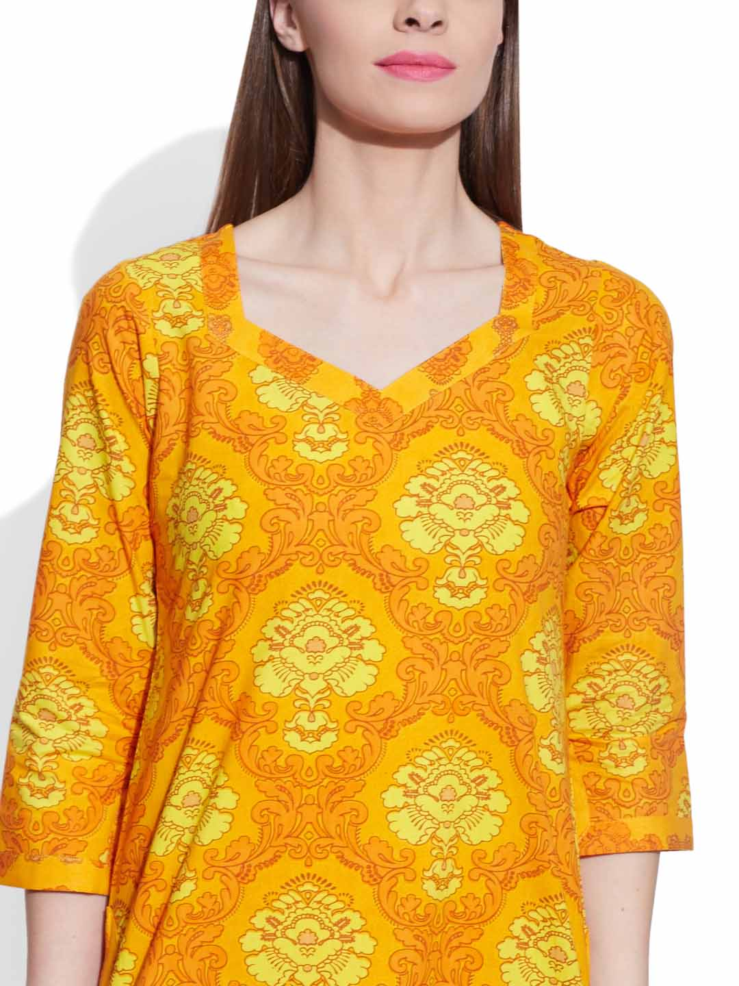 Kurtis-Cotton Printed Long Kurta