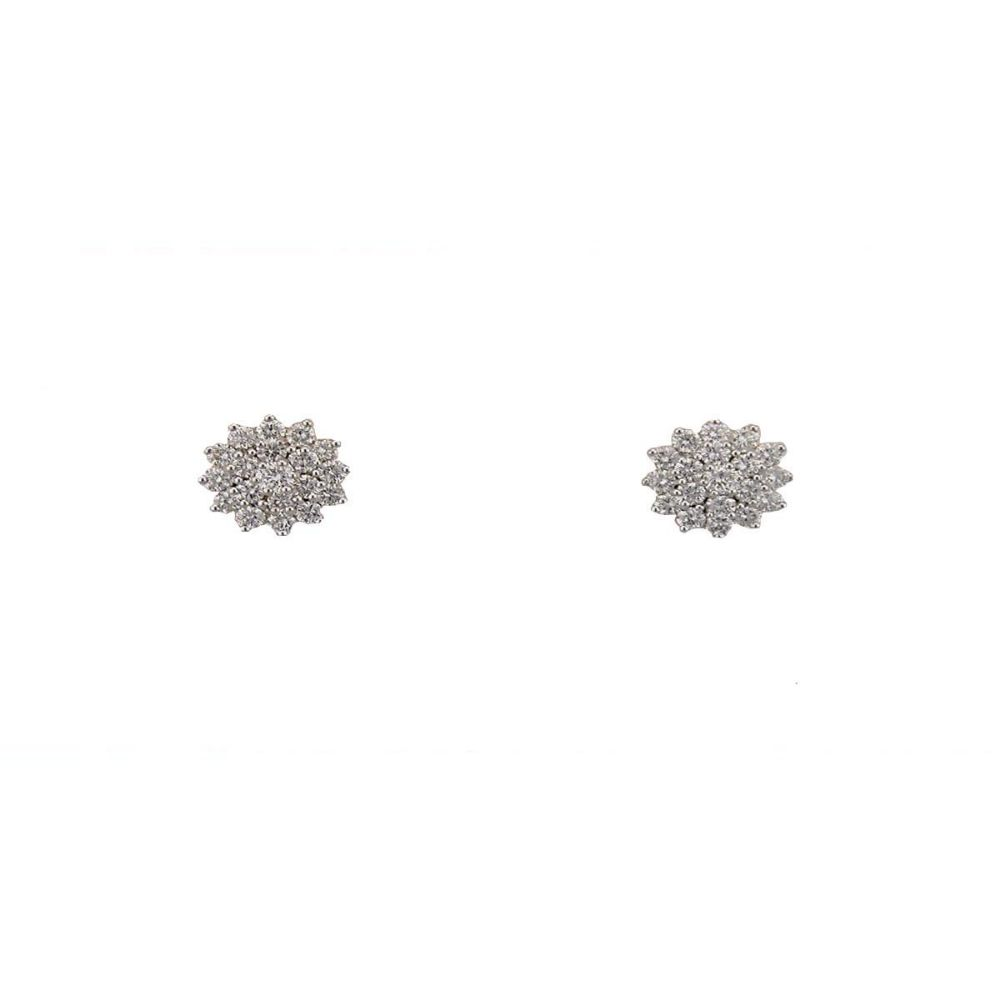 Avsar 18k (750) Yellow Gold and Solitaire Stud Earrings for Women