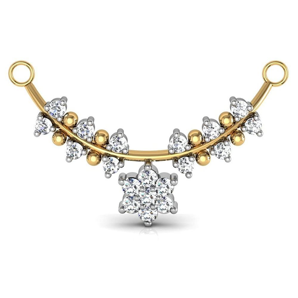 Avsar New Collection 18K (750) Yellow Gold and Diamond Mangalsutra
