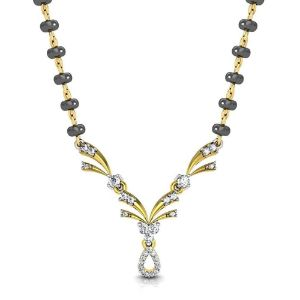Mangalsutras-Avsar New Collection 18K (750) Yellow Gold and Diamond Mangalsutra