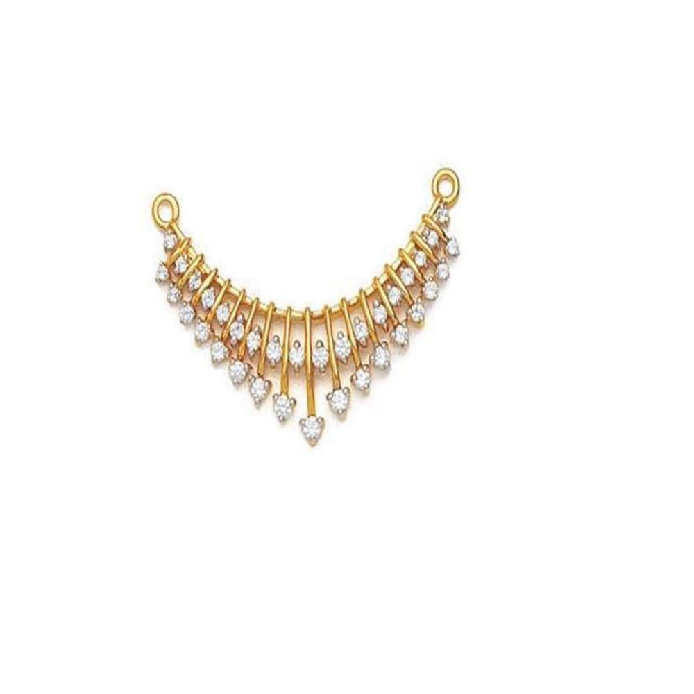 Avsar 18k (750) Yellow Gold and Solitaire Mangalsutra for Women