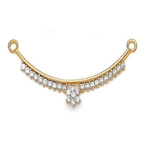 Mangalsutras-Avsar 18k (750) Yellow Gold and Solitaire Mangalsutra for Women
