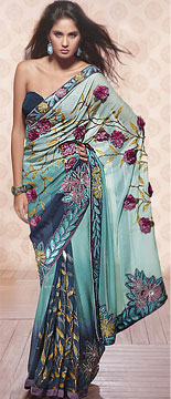 Faux Georgette-Royal Looking Decorative Saree