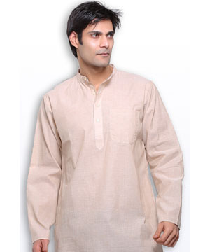Vanilla Cream Handloom Cotton Kurta