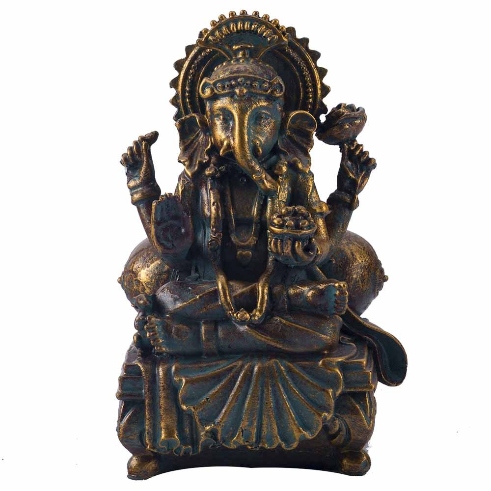 Charming Gold Finish Ganesha Idol Showpiece