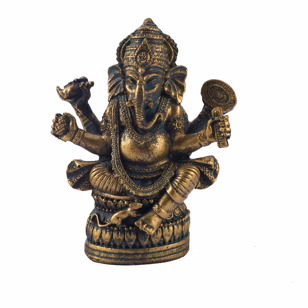 Gold Finish Ganesha Idol